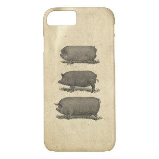 Capa iPhone 8/7 Exemplo dos porcos do vintage