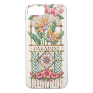 Capa iPhone 8/7 Exemplo floral do paraíso