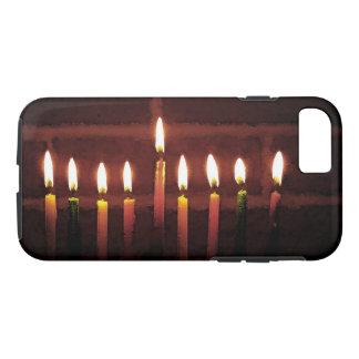 Capa iPhone 8/7 Festival de Hanukkah do caso do iPhone 7 das luzes