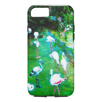 Capa iPhone 8/7 Flamingos cor-de-rosa