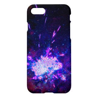 Capa iPhone 8/7 Fogos-de-artifício azuis da galáxia