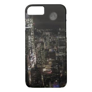 Capa iPhone 8/7 Foto da skyline da noite da Nova Iorque
