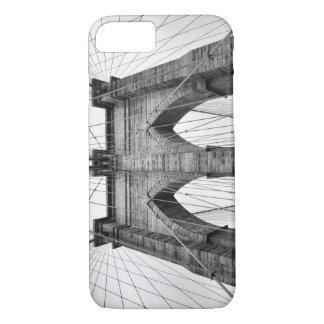 Capa iPhone 8/7 Fotografia preta & branca da ponte de Brooklyn