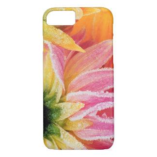 Capa iPhone 8/7 Frost nas últimas flores da queda - Dalhia -