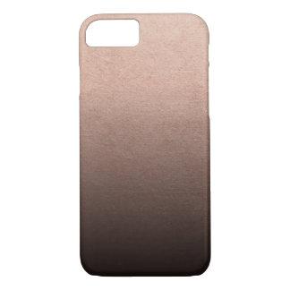 Capa iPhone 8/7 Fundo cor-de-rosa de Ombre do preto da folha de