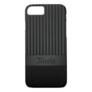 Capa iPhone 8/7 fundo preto do caso do iPhone 7 com listras