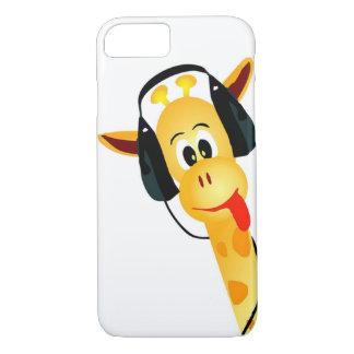 Capa iPhone 8/7 girafa engraçado com o divertimento cómico dos