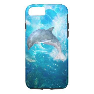 Capa iPhone 8/7 Golfinho maravilhoso com bolhas