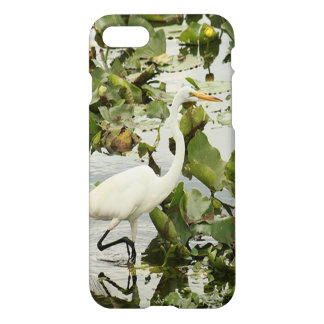 Capa iPhone 8/7 Grandes caso lustroso do iPhone 7 brancos do Egret