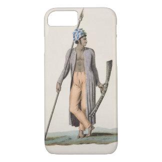Capa iPhone 8/7 Guerreiro da ilha de Guebe, 'do aut da viagem