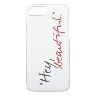 Capa iPhone 8/7 Hey caso bonito do iPhone 7 de Joe Covelli Qouote