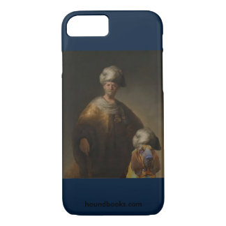 Capa iPhone 8/7 Homem no traje oriental com Wimsey o Bloodhound