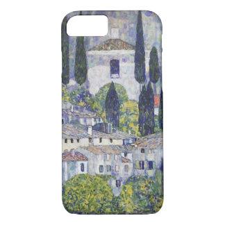 Capa iPhone 8/7 Igreja de Gustavo Klimt no sul Garda de Cassone