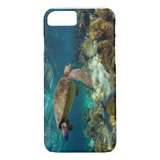 Capa iPhone 8/7 Ilhas Galápagos subaquáticas da tartaruga de mar
