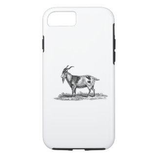 Capa iPhone 8/7 Ilustração da cabra doméstica do vintage - cabras