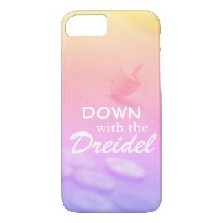 Capa iPhone 8/7 Inclinação colorido de Dreidel com texto engraçado