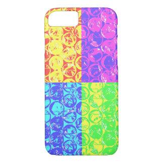 Capa iPhone 8/7 Invólucro com bolhas de ar do pop art do arco-íris