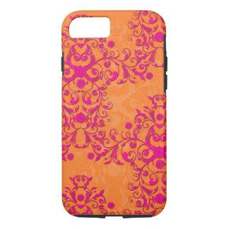 Capa iPhone 8/7 iPhone cor-de-rosa do tango da tangerina e