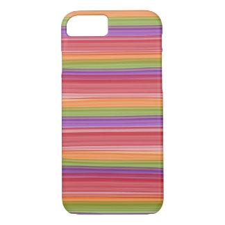 Capa iPhone 8/7 IPhone seis mal lá tiras de cor da queda
