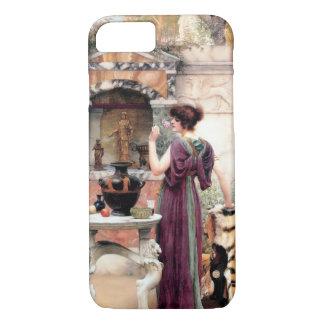 Capa iPhone 8/7 Jardim de Godward da mulher de Pompeii