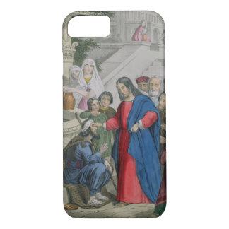 Capa iPhone 8/7 Jesus dá a vista a uma cortina nascida, de uma