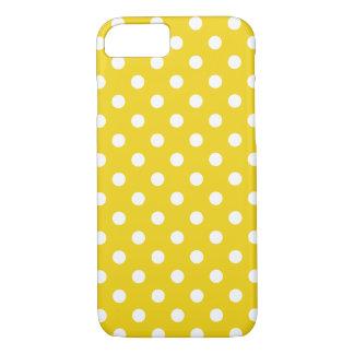 Capa iPhone 8/7 Limão - caixa amarela do iPhone 7 das bolinhas