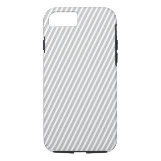 Capa iPhone 8/7 listra clássica da diagonal do Taupe do caso do