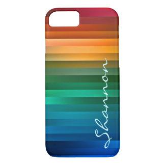 Capa iPhone 8/7 Listra multicolorido feita sob encomenda da fita