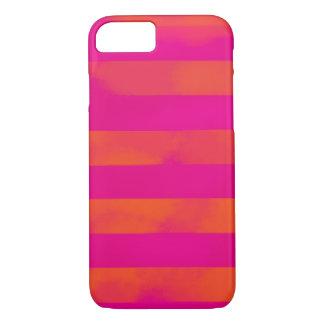 Capa iPhone 8/7 Listras ajustáveis de PixDezines/rosa/laranja