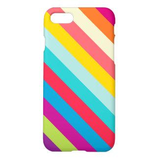 Capa iPhone 8/7 Listras diagonais em cores do verão