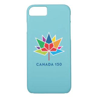 Capa iPhone 8/7 Logotipo do oficial de Canadá 150 - multicolorido