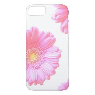 Capa iPhone 8/7 Luz - margarida cor-de-rosa do gerbera