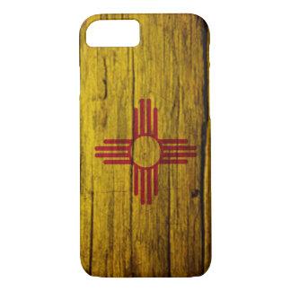 Capa iPhone 8/7 Madeira rústica da bandeira de New mexico