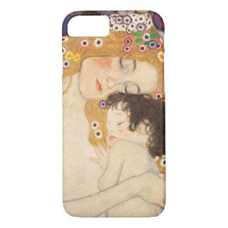 Capa iPhone 8/7 Mãe e criança de Gustavo Klimt