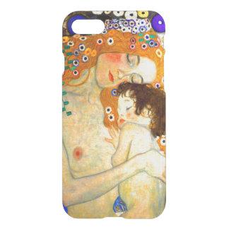 Capa iPhone 8/7 Mãe e criança pela arte Nouveau de Gustavo Klimt