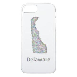 Capa iPhone 8/7 Mapa de Delaware