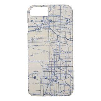 Capa iPhone 8/7 Mapa de estradas 2 da bicicleta de Wisconsin
