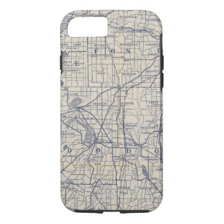 Capa iPhone 8/7 Mapa de estradas 4 da bicicleta de Wisconsin