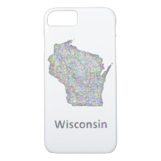 Capa iPhone 8/7 Mapa de Wisconsin