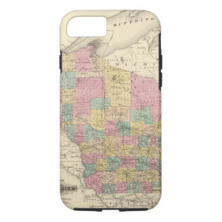 Capa iPhone 8/7 Mapa do estado de Wisconsin