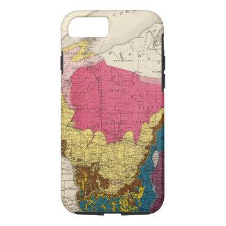 Capa iPhone 8/7 Mapa Geological de Wisconsin