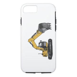Capa iPhone 8/7 Máquina escavadora amarela grande