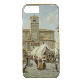 Capa iPhone 8/7 Marketday em Desanzano (óleo em canvas)