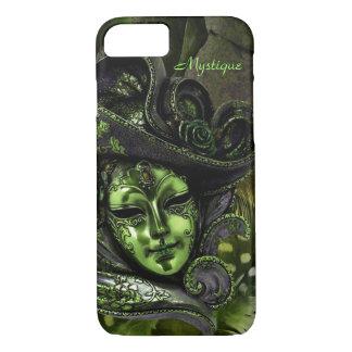 Capa iPhone 8/7 Máscara do carnaval - caso do iPhone 7 do damasco