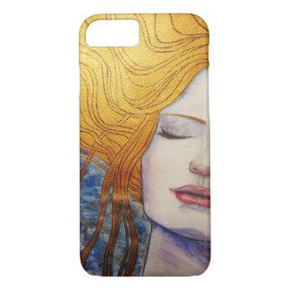 Capa iPhone 8/7 menina com cabelo do ouro