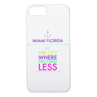 Capa iPhone 8/7 Miami Florida menos caso do iPhone 7 do esforço