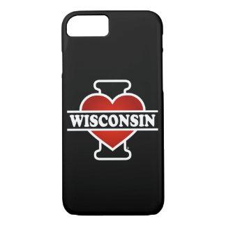 Capa iPhone 8/7 Mim coração Wisconsin