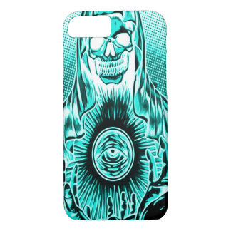 Capa iPhone 8/7 Morte astral retro do crânio de Skully