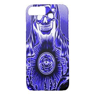Capa iPhone 8/7 Morte da meia-noite retro do crânio de Skully