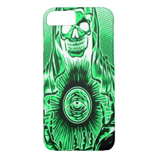 Capa iPhone 8/7 Morte fantasma retro do crânio de Skully